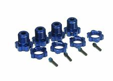 E-MAXX Brushless 17mm HEX HUBS (Nuts Blue, E-Revo Summit T-maxx Traxxas 3908