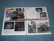 "1977 Plymouth  Volare Vintage Drag Car Article ""Black, Purple & Fast"""