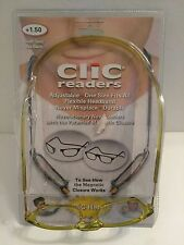 Clic Reader Eyeglasses Full Rim Magnetic Reading Glasses +150 Design for Maximum