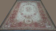 Magnificent Victoria Handmade Cross-Stitched Wool Needle Point rug 6x9