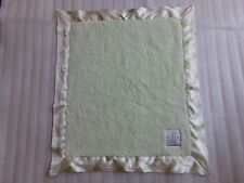 LITTLE GIRAFFE Green White Luxe Polka Dot Baby Satin Trim Security Blanket Lovey