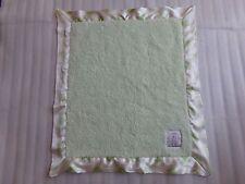 LITTLE GIRAFFE Green White Polka Dot Baby Satin Trim Security Blanket Lovey Luxe