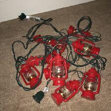 String of 10 Midwest Red Lantern Lights RV Christmas Retro