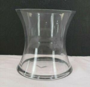"7"" Glass Hurricane Vase Concave Style T3"