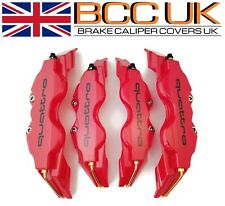 BIG RED Brake Caliper Covers DIY Kit QUATTRO Logo Front Rear 4pcs L+M fits AUDI