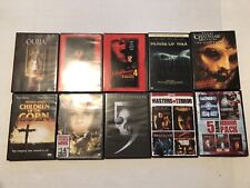 10- Assorted Horror Dvd Movies