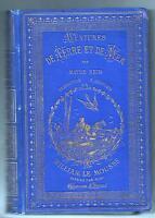 Aventures de Terre et de Mer. MAYNE REID. Hetzel cartonnage bleu. Vers 1890