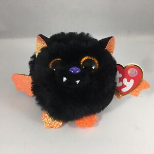 NEW 2021 Ty Puffies ECHO Halloween Bat (4 inch) Stuffed Puff Ball Plush Toy MWMT