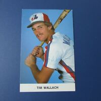 TIM WALLACH  1981 Montreal Expos team issue postcard Signed Autographed AUTO RC