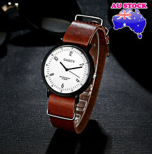 Wholesale Hot Brown Leather Classic Mens White Dial Quartz Sports Wrist Watch