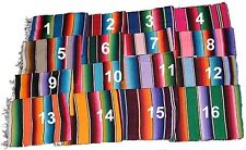 Mexican Colorful Striped Saltillo Serape Blanket fiesta hot rod seat cover 60x84