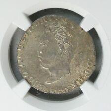 Ek // Rupia Silver Goa 1869 India Portuguese Colony Luis I : NGC MS62