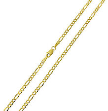 14K Yellow Gold 2.5mm Figaro 3+1 Hollow Chain Necklace - 24 Inches