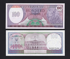 Suriname P-128 100 Gulden Year 1.11.1985 Uncirculated Banknote South America