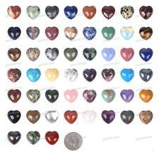 20mm Gemstone Rock crystal puff LOVE hearts Crystal healing Reiki pocket stone