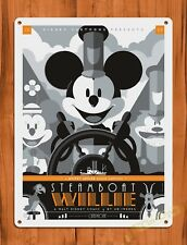 TIN SIGN Walt Disney Mickey Retro Steamboat Willie Cartoon Movie Art Poster