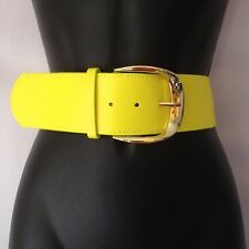 NEW DAINTY HOOLIGAN YELLOW BELT WIDE WAIST SMALL STRETCH