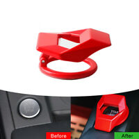 Car Interior Engine Start Stop Push Button Switch Ring Cover Sticker Accessories