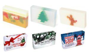 Christmas Handmade Wrapped Soap Body Bar Slice Travel Bath Shower Natural Gift