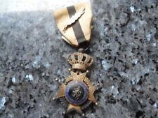 belle medaille ordre de leopold en argent bilingue