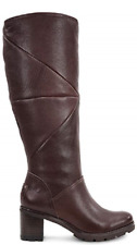 NEW UGG BROWN LEATHER SHEARLING TALL BOOTS SIZE 9 M $350