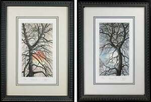 Pair of Framed Engraving, Catherine Colsher Hand Signed / Number, Double Matted