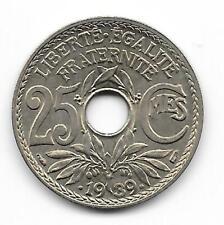 monnaie de 25 centimes LINDAUER .1939. état SUP à SPD voir scan  (1)
