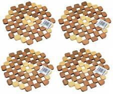 4x Topfuntersetzer aus Bambus | Pfannenuntersetzer | Bambus Untersetzer| Ø 20cm