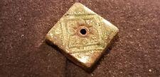 Superba POST medievale in lega di rame pressato Tappo Tipo una volta ORO DORATE L64z