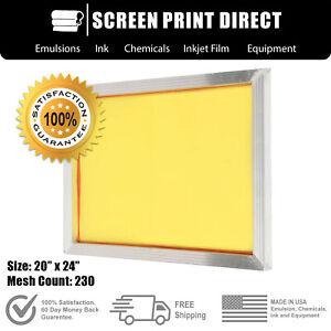 "Ecotex® Aluminum Frame Screen For Screen Printing 20"" x 24"" - 230 Yellow Mesh"