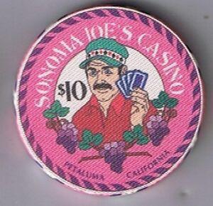 Sonoma Joe's $10.00 July 4th Casino Chip Tournament Weekend 1995 Petaluma Ca.