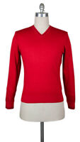 Neu Luciano Barbera Rot Pullover - V-Ausschnitt - XXL/56 - (1096965307745)