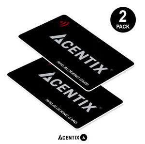 2X RFID Blocking Card Contactless Protector Blocker Bank Debit Card Wallet UK