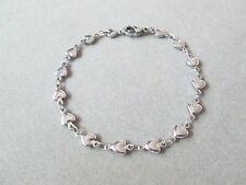 Bracelet Heart Link Chain 6.75 inch x 5.5 mm 316 Stainless Steel Female Fashion