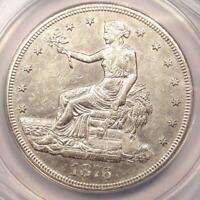 1876-CC Trade Silver Dollar T$1 - ANACS AU55 Details - Rare Carson City Coin!