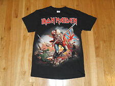 VINTAGE STYLE IRON MAIDEN EDDIE THE TROOPER FLAG CONCERT TOUR T-SHIRT MENS SMALL