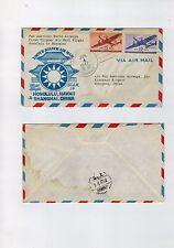 1947 Honolulu Hawaii to Shanghai China First Clipper