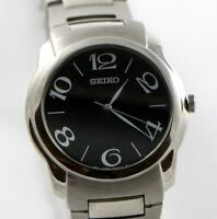 Seiko Men's Watch Stainless Steel Analog Black Face 7NO1-OLL8 Silver-Tone