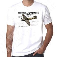 Hawker Hurricane Fighter WW2 RAF Allied Forces Mens 100% cotton tshirt