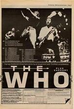 Who The Tour Advert NME Cutting 1980