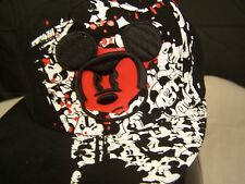NWT Disney baseball hat, Black Flat Brim w/ embroidered Large red face Mickey