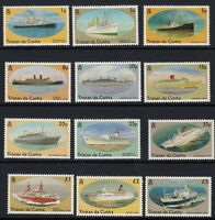 TRISTAN DA CUNHA: 1994 Ships definitive set SG553-64 MNH