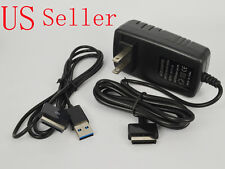 AC Wall Plug Charger+USB Data Sync Cable Cord ASUS Transformer Pad TF201 TF101