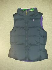 Ralph Lauren Polo Vest Puffer Down Youth Size 6X  Navy/Purple Reversible