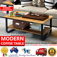 Modern Coffee Table Bedside Living Room Home Office Furniture Side Storage Black
