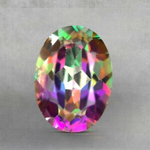 Lovey Natural Mystic Topaz Faceted Loose Gemstone 1.26cts Gemologist Verified