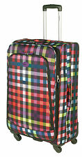 Highbury Lightweight 4 Wheel Spinner Suitcase / Luggage Multibox Multicoloured Medium
