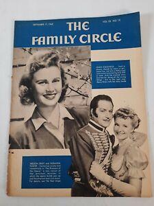 Vtg September 17 1943 Family Circle Magazine Used Issue Ephemera Ads Scrapbook