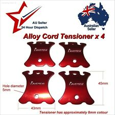 4 x AXEMEN Alloy Guy line Adjuster. Tent cord stoppers. Cross runners. paracord