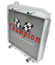 2 Row Advanced Champion Radiator for 1953 1954 1955 1956 Ford Truck Flathead V8